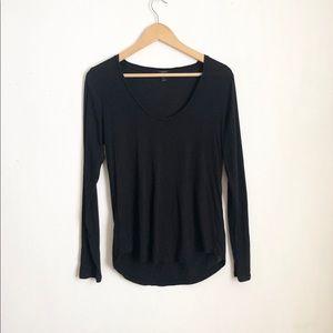 J.crew black blouse size: small slip on comfy